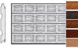 Brama LPU 42, 3500 x 2000, Kasetony S, Decograin, okleina drewnopodobna