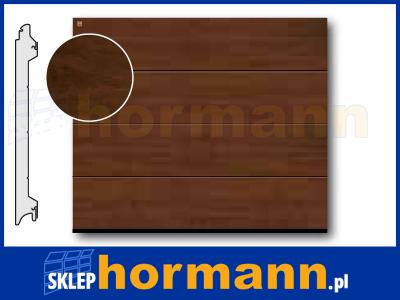 Brama EPU, 2500 x 2500, Przetłoczenia L, Decograin, Dark Oak