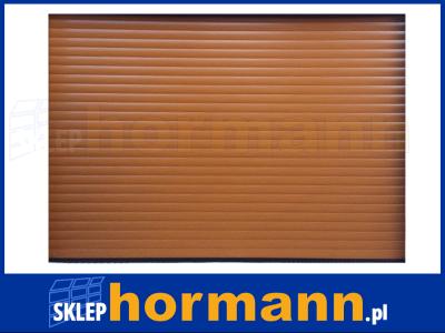 Brama RollMatic 3500 x 2470, z napędem, NOWA, Decopaint, malowana na kolor Golden Oak (złoty dąb)