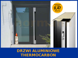 Drzwi aluminiowe ThermoCarbon