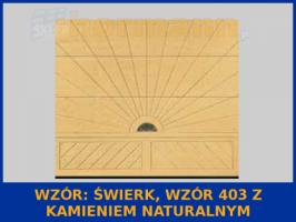 WZÓR: Świerk, Wzór 403, z kamieniem naturalnym