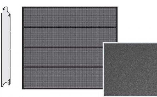 Brama LPU 42, 2375 x 2000, Przetłoczenia L, Decograin, Titan Metallic CH 703