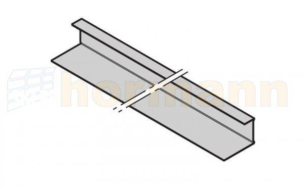 Profil kątownika końcowego, gładki, RAL 9002 / metr