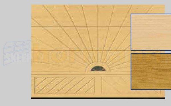 Brama LTH, 5000 x 2125, Wzór 403, Świerk, z kamieniem naturalnym
