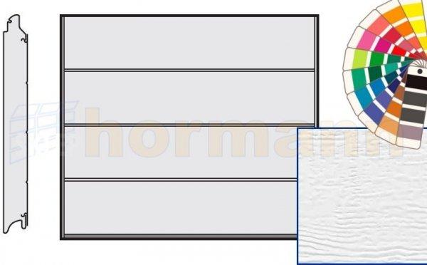 Brama LPU 42, 2375 x 2000, Przetłoczenia L, Woodgrain, kolor do wyboru