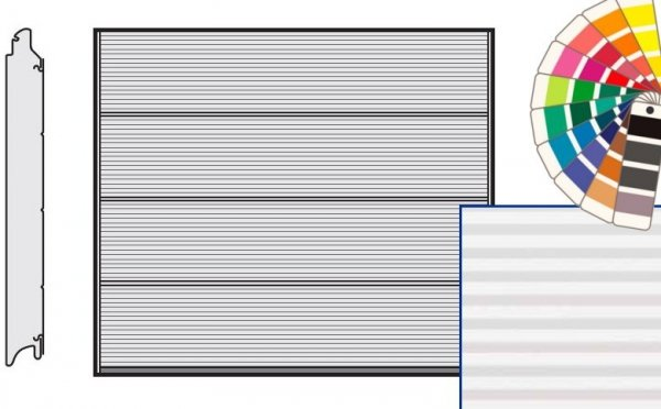 Brama LPU 42, 2500 x 2000, Przetłoczenia L, Micrograin, kolor do wyboru