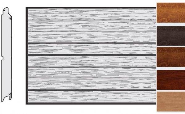 Brama LPU 42, 5000 x 2250, Przetłoczenia M, Decograin, okleina drewnopodobna