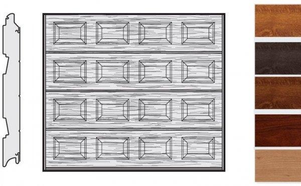 Brama LPU 42, 3000 x 2000, Kasetony S, Decograin, okleina drewnopodobna
