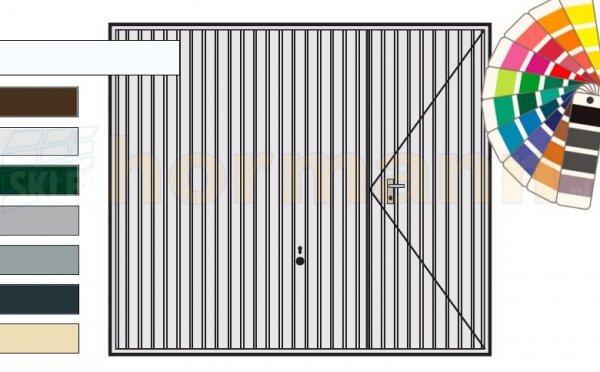 Brama uchylna N 80, 2250 x 2125, Wzór 902 z drzwiami, kolor do wyboru