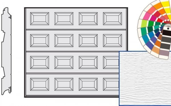 Brama LPU 42, 2375 x 2000, Kasetony S, Woodgrain, kolor do wyboru