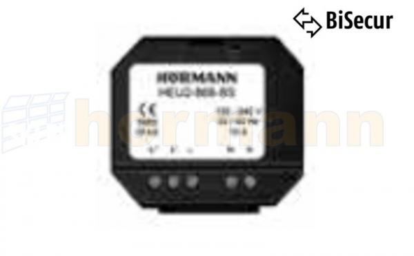 Odbiornik podtynkowy 2-kanałowy HEU 2 868 MHz BiSecur (zasilanie 230 V, funkcja włącz/wyłącz)