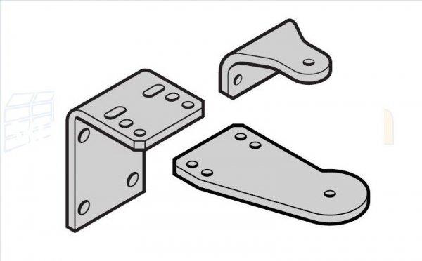 Zestaw okuć ze stali nierdzewnej do napędów Hormann RotaMatic / P / PL oraz Akku