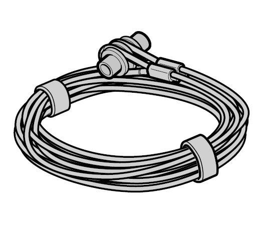 Lina stalowa Ø 3 mm z mocowaniem, prowadzenie Z, komplet do każdej bramy, L = 2615, wysokość bramy do 2125