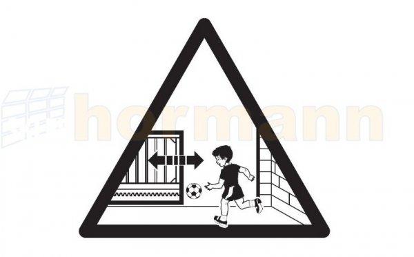 Naklejka ostrzegawcza do Portronic S4000