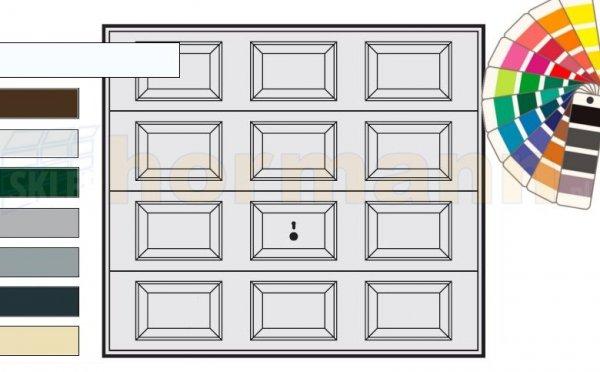 Brama uchylna N 80, 2375 x 2125, Wzór 979, kolor do wyboru