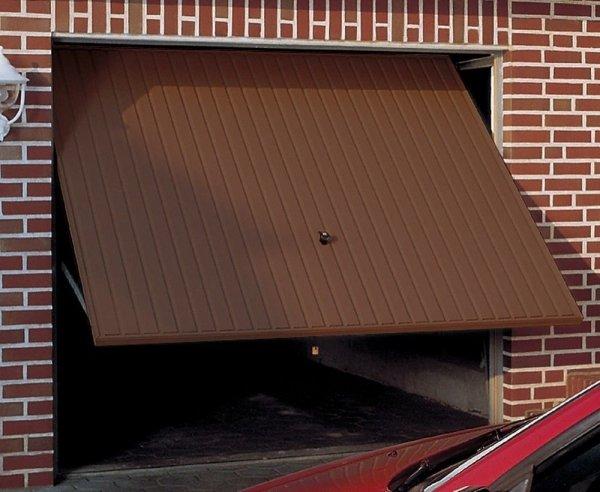 Brama uchylna Pearl N 80, 2500 x 2125, Pearlgrain, kolor brązowy RAL 8028