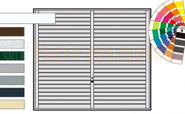 Brama uchylna N 80, 3000 x 2125, Wzór 957, kolor do wyboru