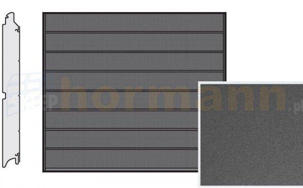 Brama LPU 42, 2375 x 2250, Przetłoczenia M, Decograin, Titan Metallic CH 703
