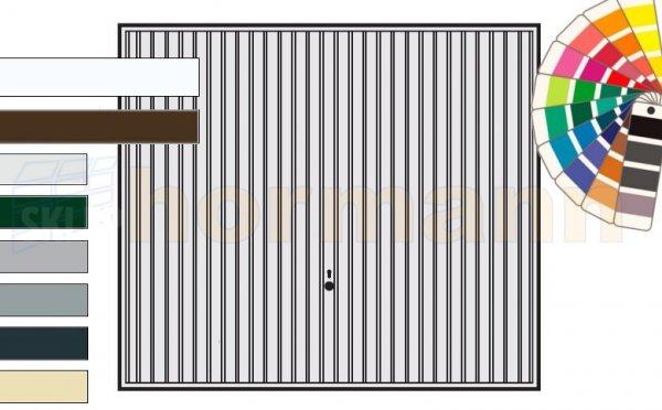 Brama uchylna N 80, 2500 x 2250, Wzór 902, kolor do wyboru
