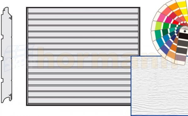 Brama LPU 42, 2250 x 2000, Przetłoczenia S, Woodgrain, kolor do wyboru