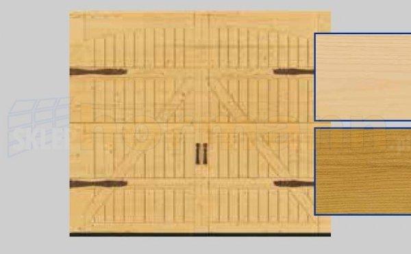 Brama LTH, 2500 x 2125, Wzór 405, Świerk, z okuciami