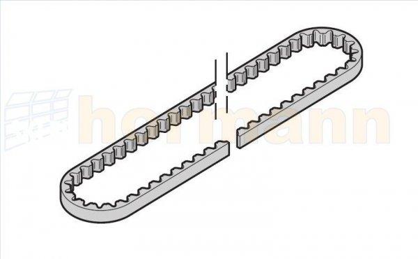 Pas zębaty do prowadnicy (szyny) FS60 / FS6, średnia, do SupraMatic H (następca artykułu o numerze 438696)