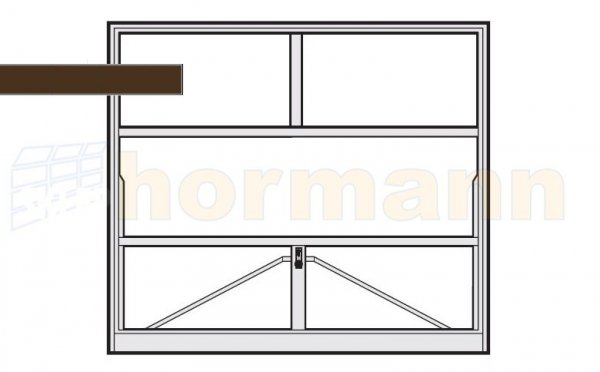 Brama uchylna N 80, 2250 x 1920, Wzór 905 do wypełnienia
