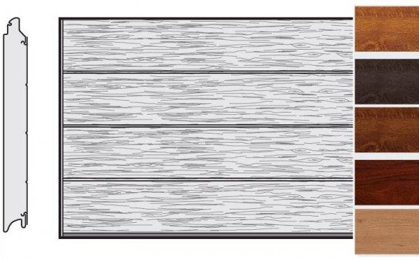 Brama LPU 42, 5000 x 2250, Przetłoczenia L, Decograin, okleina drewnopodobna