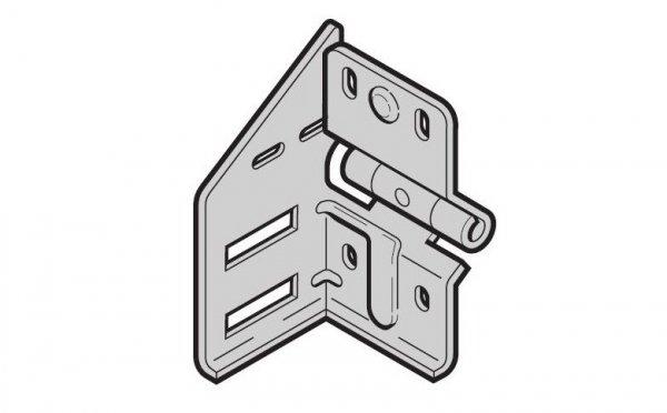 Wspornik rolki pośredni typ 4 prowadzenie N, BL, Z, BZ wersja lewa