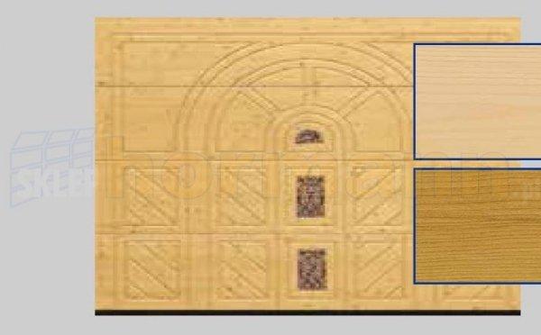 Brama LTH, 5000 x 2125, Wzór 404, Świerk, z kamieniem naturalnym