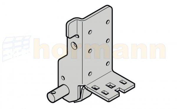 Dolny uchwyt rolki, głębokość montażowa 42, typ prowadzenia H, HD, HS, HU, HB, V, VU, VS, VB, NH, ciężar płyty bramy do 400 kg, lewy