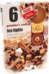PODGRZEWACZ 6 SZTUK TEA LIGHT Grandma's cookies