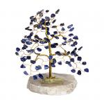 Drzewko szczęścia. Ok. 100 kamieni szlachetnych. Różne rodzaje. Średnica 17 cm wys. 23 cm.