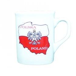 Kubek Polska biały 2 mapy