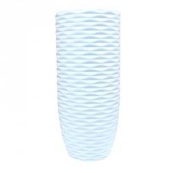 Duży wazon stylowy lekki w kolorze bieli / materiał tworzywo sztuczne/