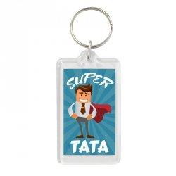 Brelok dwustronny Super Tata