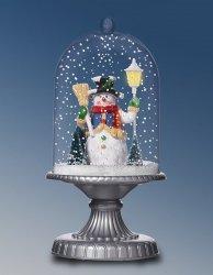 Lampa stołowa bożonarodzeniowa z bałwanem