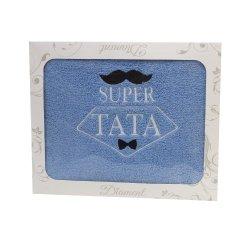 Ręcznik z haftem w opakowaniu Super Tata