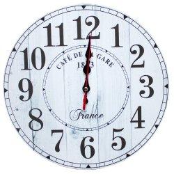 Zegar ścienny drewniany, France