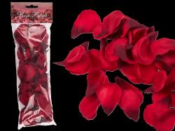 Zestaw 100 płatków róży w kolorze czerwonym