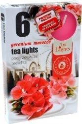 PODGRZEWACZ 6 SZTUK TEA LIGHT Geranium marcocco
