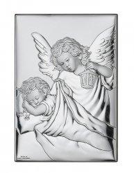 Obrazek Aniołek z latarenką z modlitwą 9x13 cm