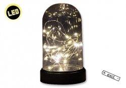 Dekoracja świąteczna z łańcuchem światełek LED