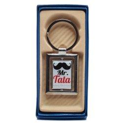 Zawieszka brelok obrotowy żelowy prostokąt Mr Tata