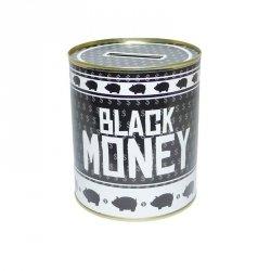 Puszka Skarbonka BLACK MONEY CZARNO BIAŁA