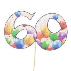Cyfra ozdobna pik 60 balony 3szt/kpl