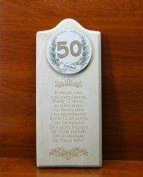 Deska Życzenia urodzinowe 50