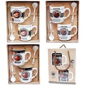ZESTAW 2 MINI KUBKÓW COFFEE W NOSIDEŁKU