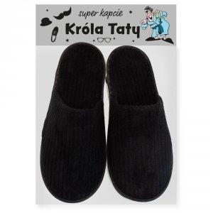 Czarne pantofle dla Króla Taty