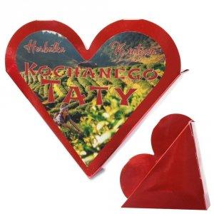 Serce z napisem Herbatka Kwiatowa Kochanego Taty